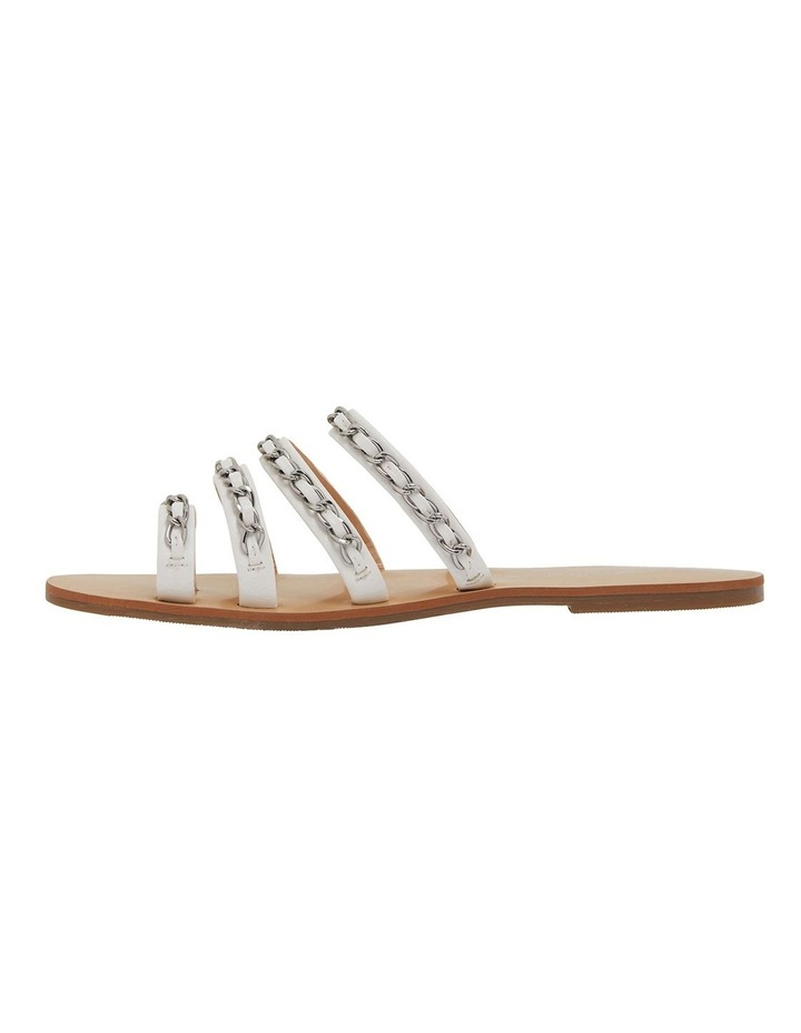 Catalina White Smooth Sandals image 3