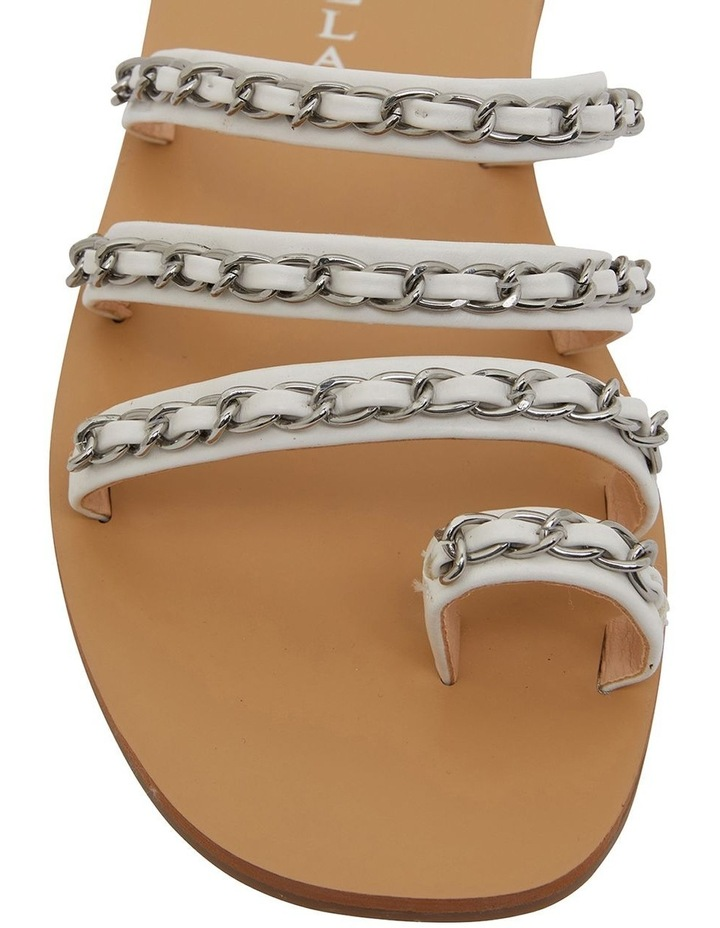 Catalina White Smooth Sandals image 6