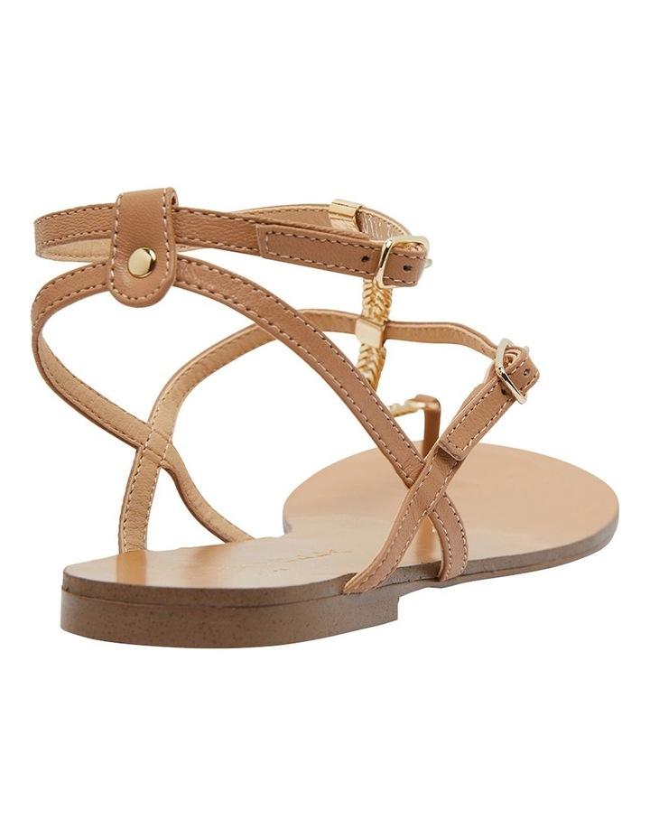 Saskia Light Tan Kid Sandals image 4