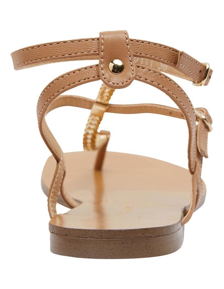 Saskia Light Tan Kid Sandals image 6