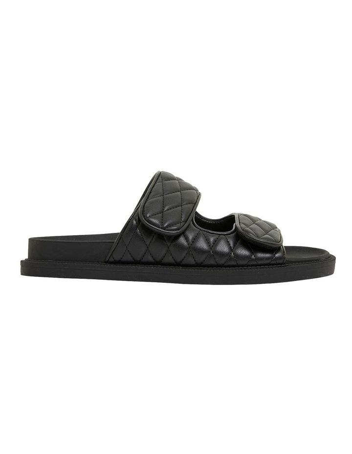 Gretel Black Smooth Sandals image 1