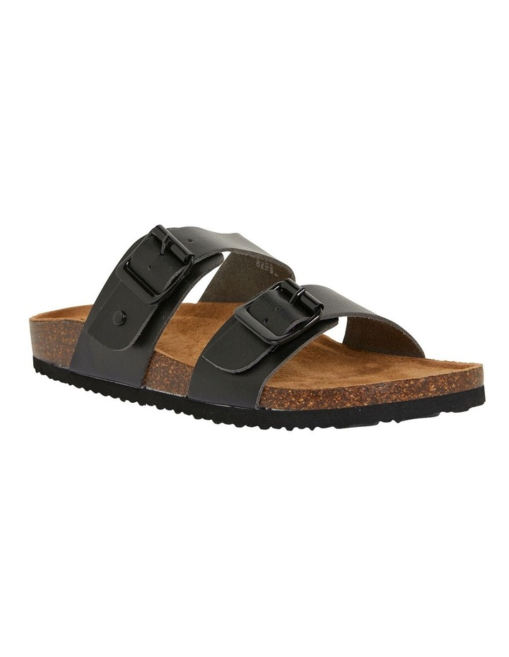 Decoy Black Smooth Sandals image 2