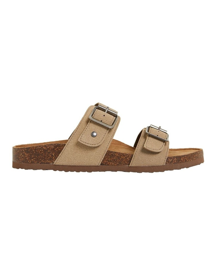 Decoy Taupe Fabric Sandals image 1