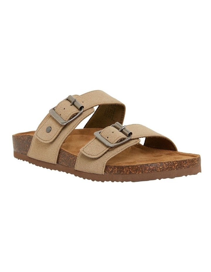 Decoy Taupe Fabric Sandals image 2