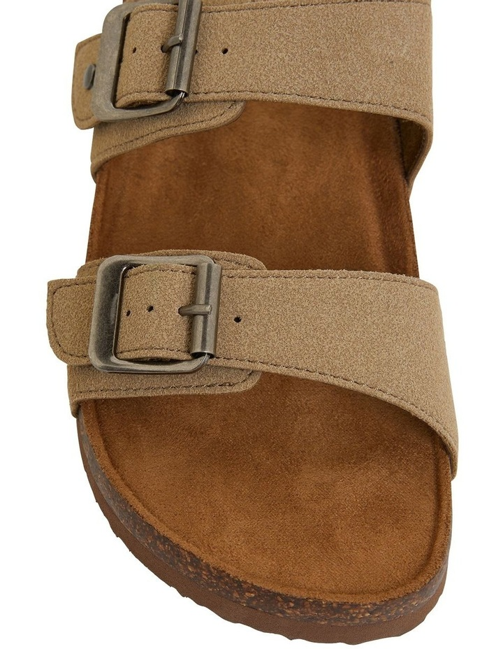 Decoy Taupe Fabric Sandals image 7