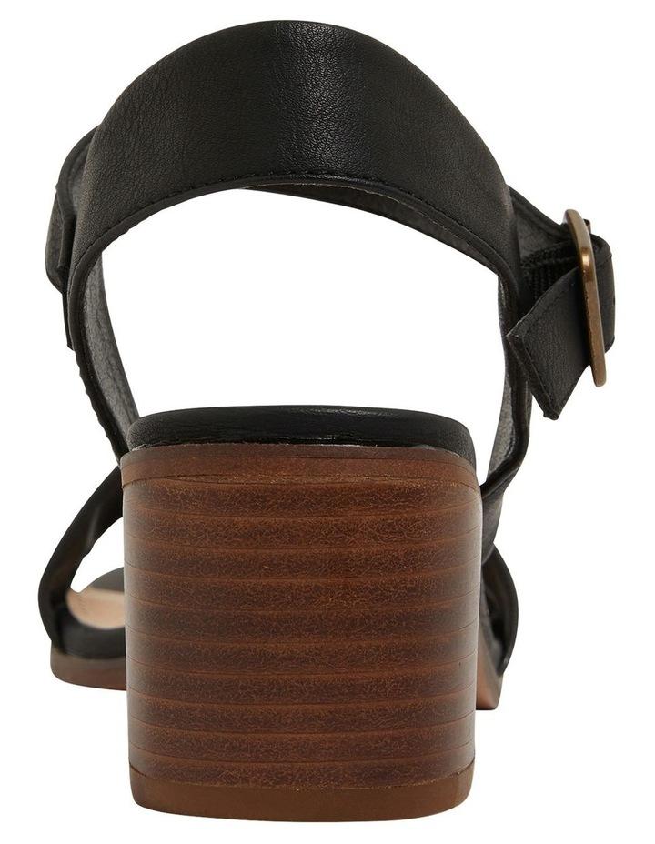 Evolve Black Smooth Sandals image 5
