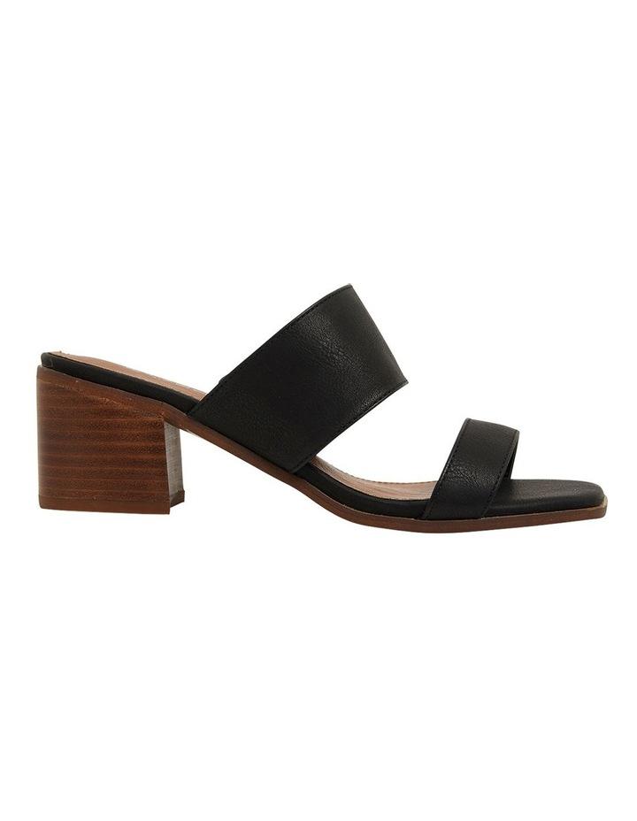 Edge Black Smooth Sandals image 1