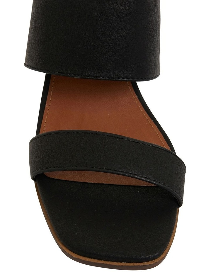 Edge Black Smooth Sandals image 6