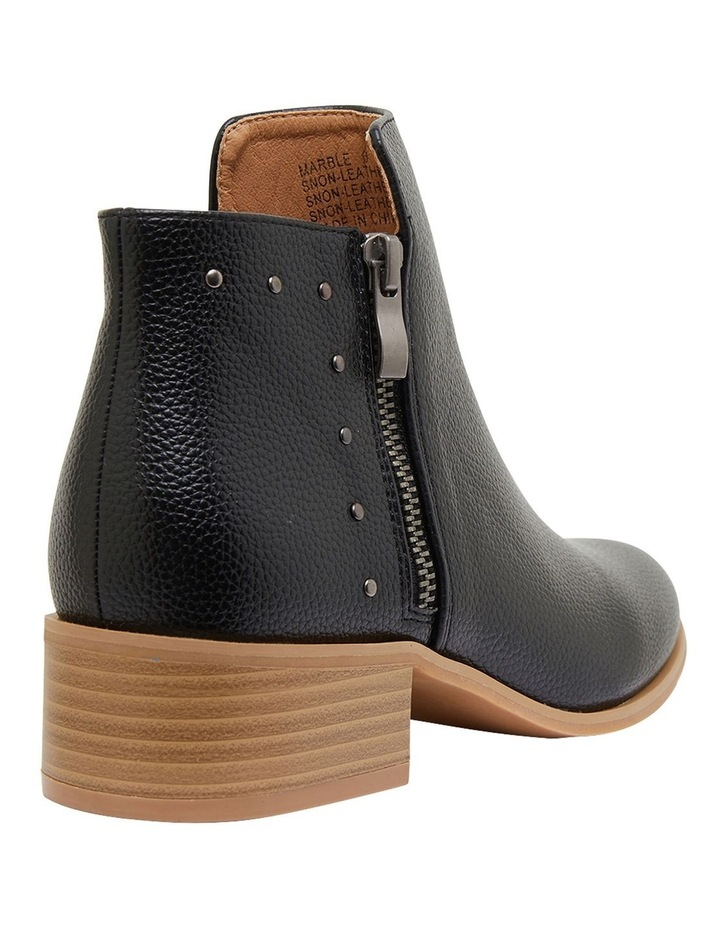 Marble Black Smooth Boots image 4