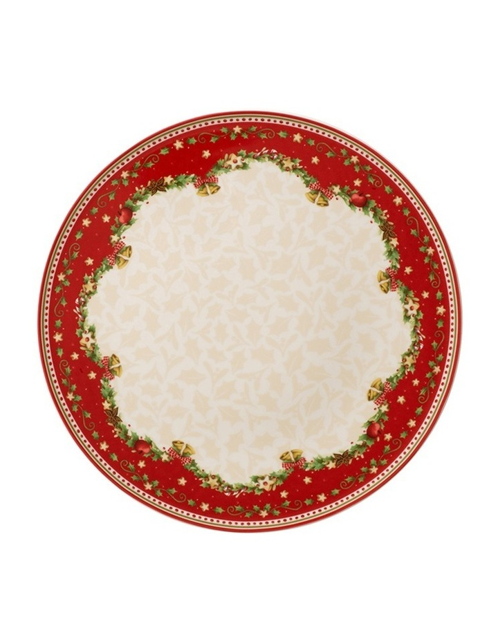 Winter Bakery Delight Round Holly Cake Plate image 1