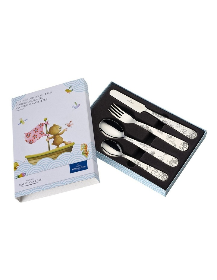 Happy as a Bear Children Cutlery 215x150x25mm Set of 4 image 2