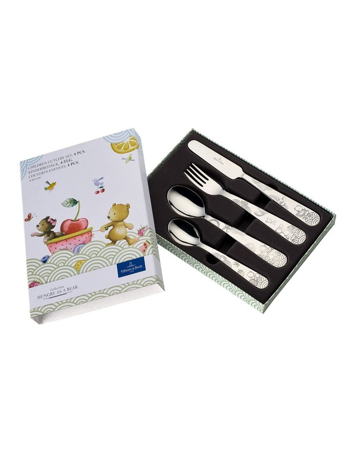 Hungry as a Bear Children Cutlery 215x150x25mm Set of 4 image 1
