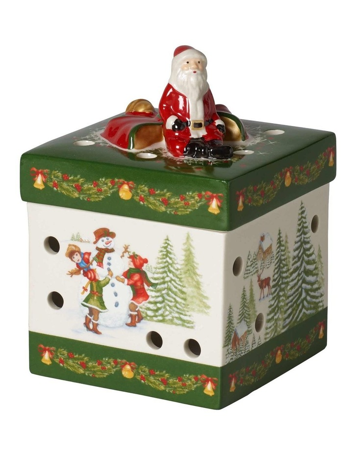 Christmas Toy's Small Square Gift Box Green 9x9x13cm image 1