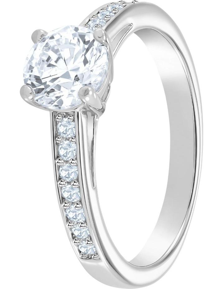 Attract Round Ring - White - Rhodium Plated 60mm image 2