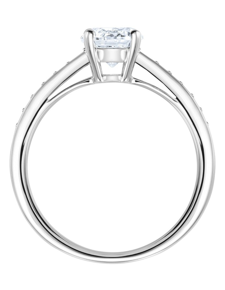 Attract Round Ring - White - Rhodium Plated 60mm image 3