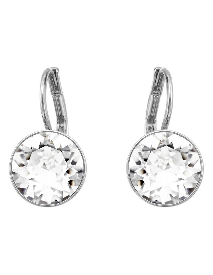 Bella Mini Earrings - White - Rhodium Plated image 1