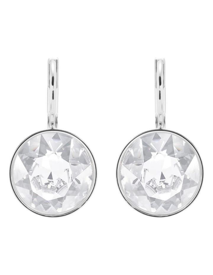 Bella Mini Earrings - White - Rhodium Plated image 2