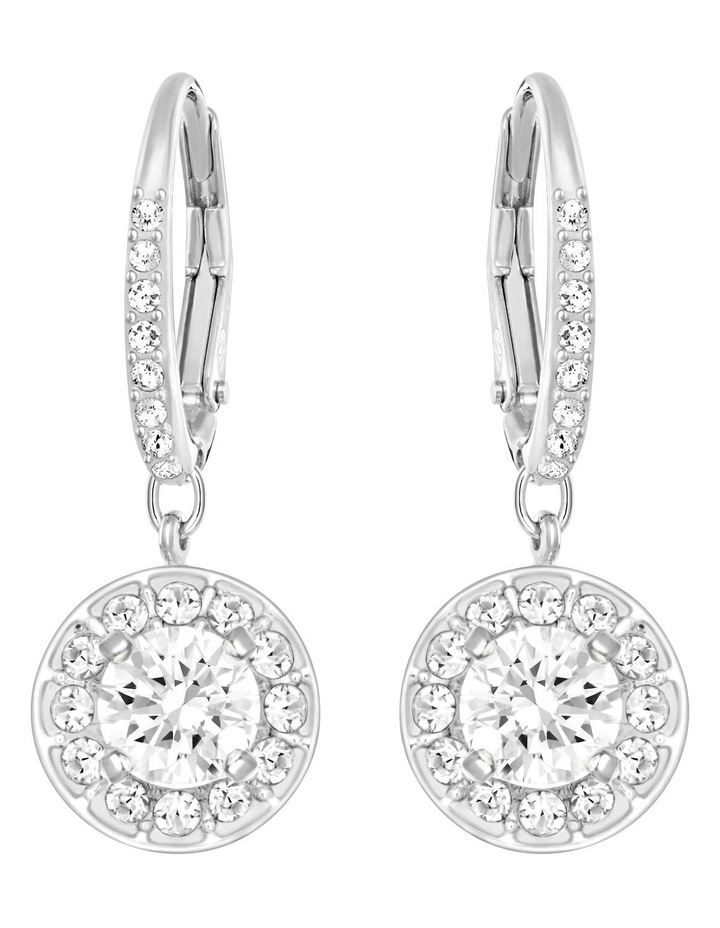 Attract Earrings - White - Rhodium Plated image 1