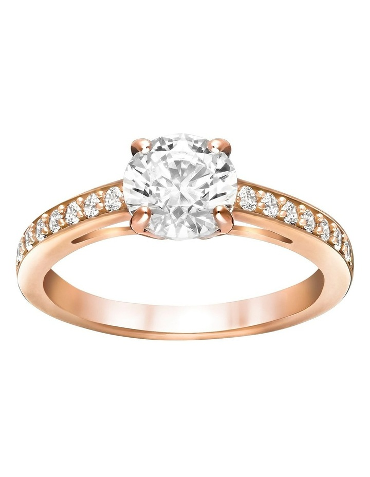 Attract Round Ring - White - Rose-gold Tone Plated 52mm image 1