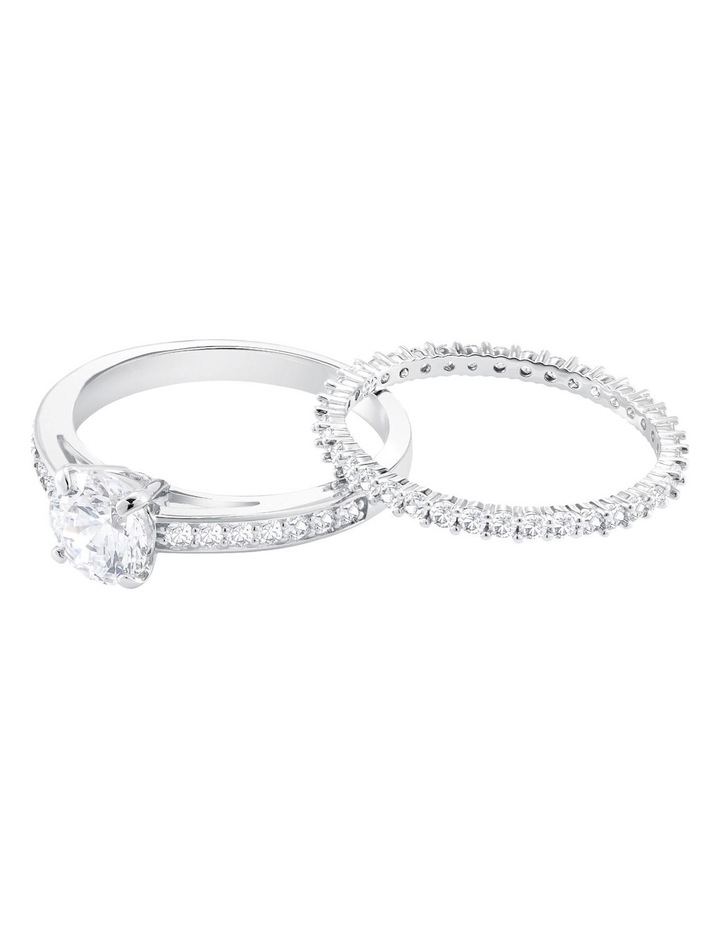 Attract Ring Set - White - Rhodium Plated 52mm image 2