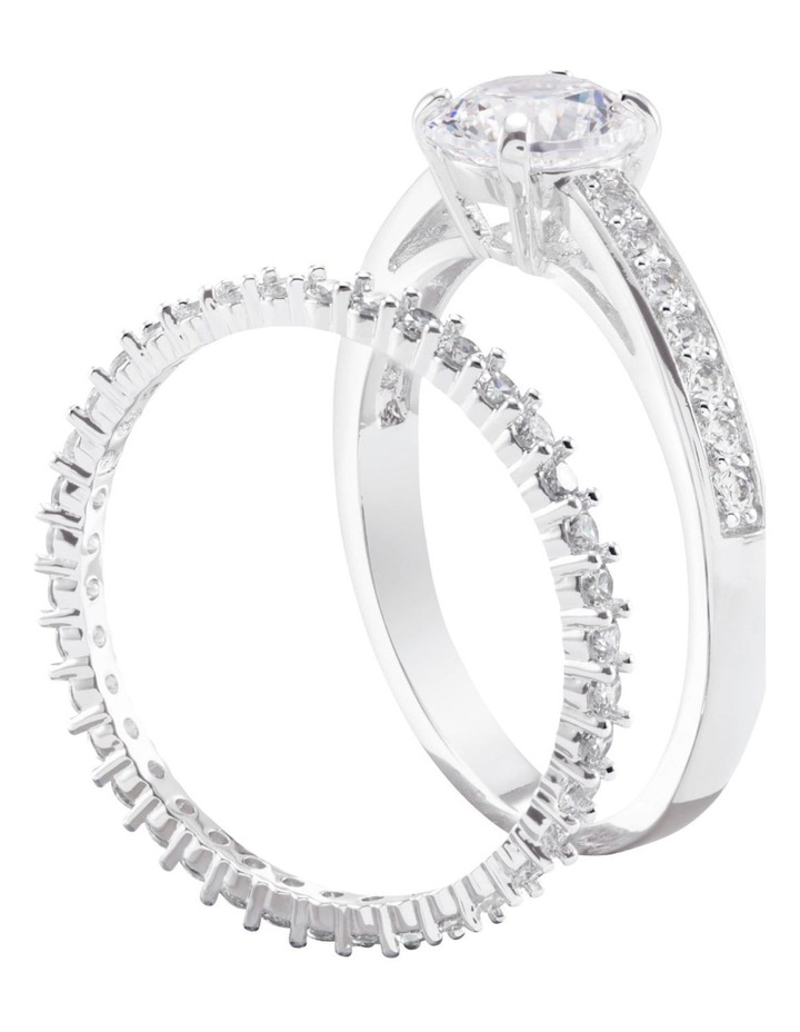 Attract Ring Set - White - Rhodium Plated 52mm image 3