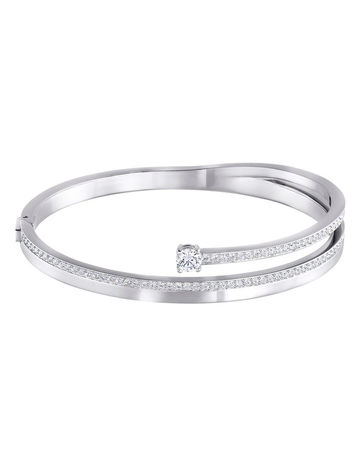 Fresh Bangle - White - Rhodium Plated image 1
