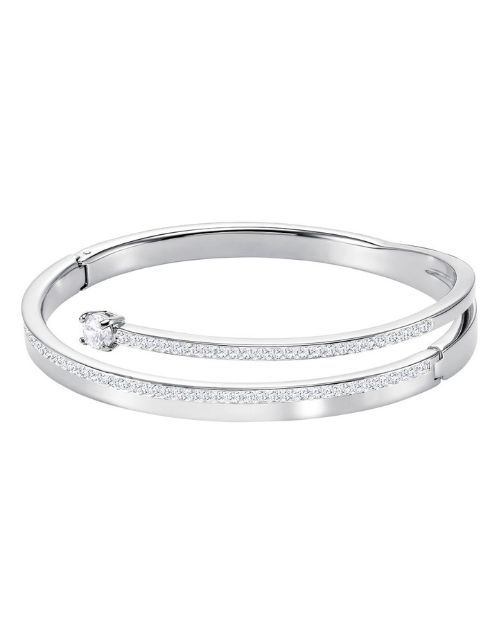 Fresh Bangle - White - Rhodium Plated image 2