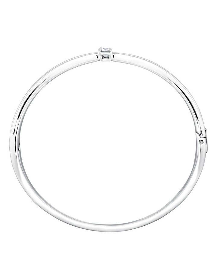 Fresh Bangle - White - Rhodium Plated image 3