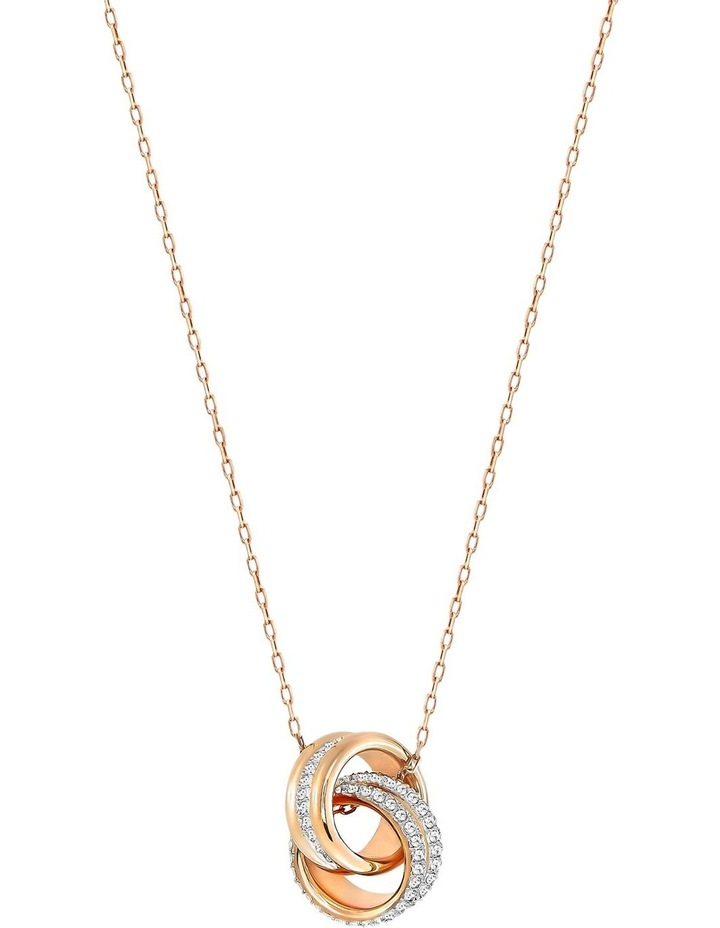 Further Pendant - White - Rose-gold Tone Plated image 1