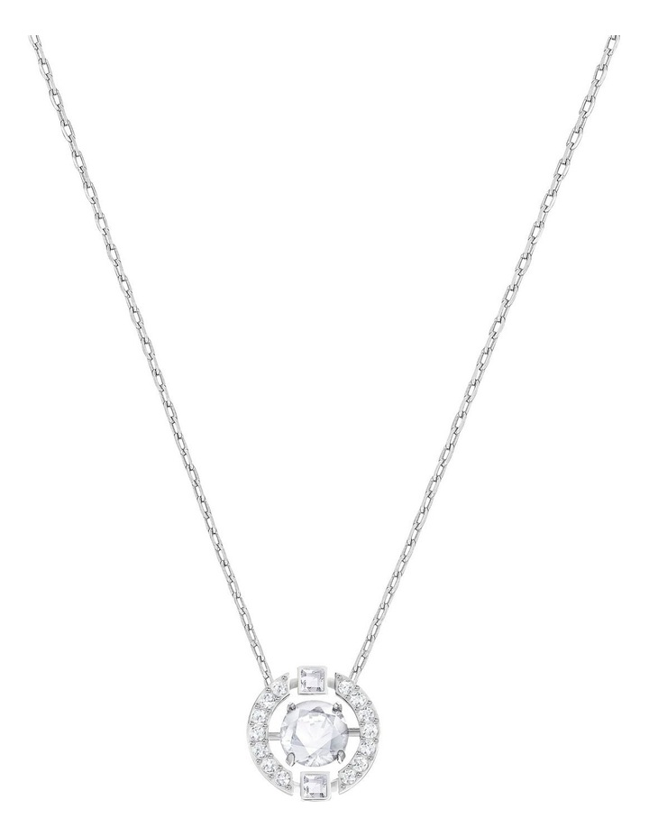 Sparkling Dance Round Necklace - White - Rhodium Plated image 1