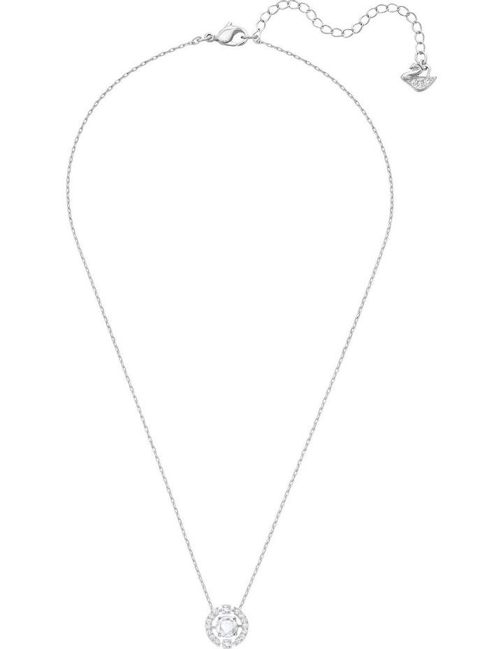 Sparkling Dance Round Necklace - White - Rhodium Plated image 2