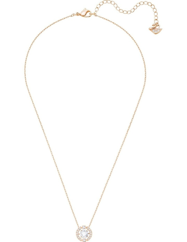 Sparkling Dance Round Necklace - White - Rose-gold Tone Plated image 2