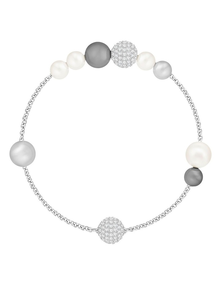 Remix Collection Pearl Strand - Gray - Rhodium Plated image 1