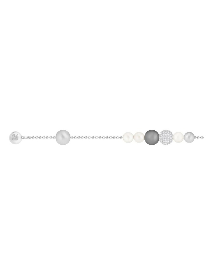 Remix Collection Pearl Strand - Gray - Rhodium Plated image 3