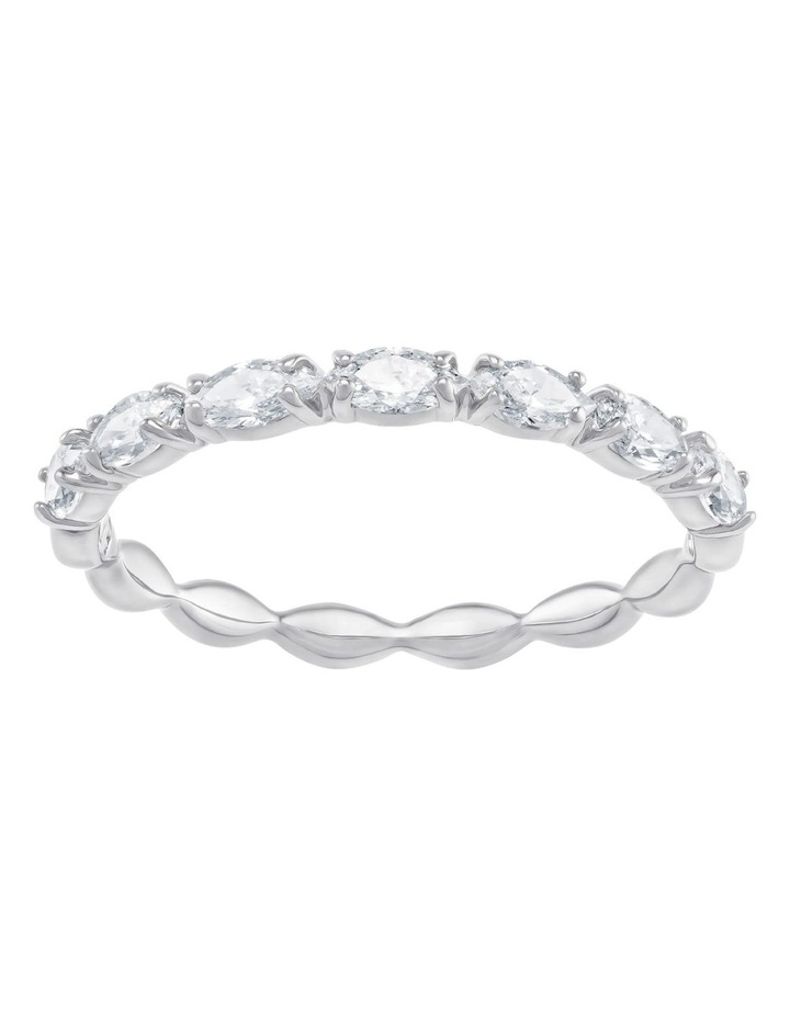 Vittore Marquise Ring - White - Rhodium Plated 52mm image 1