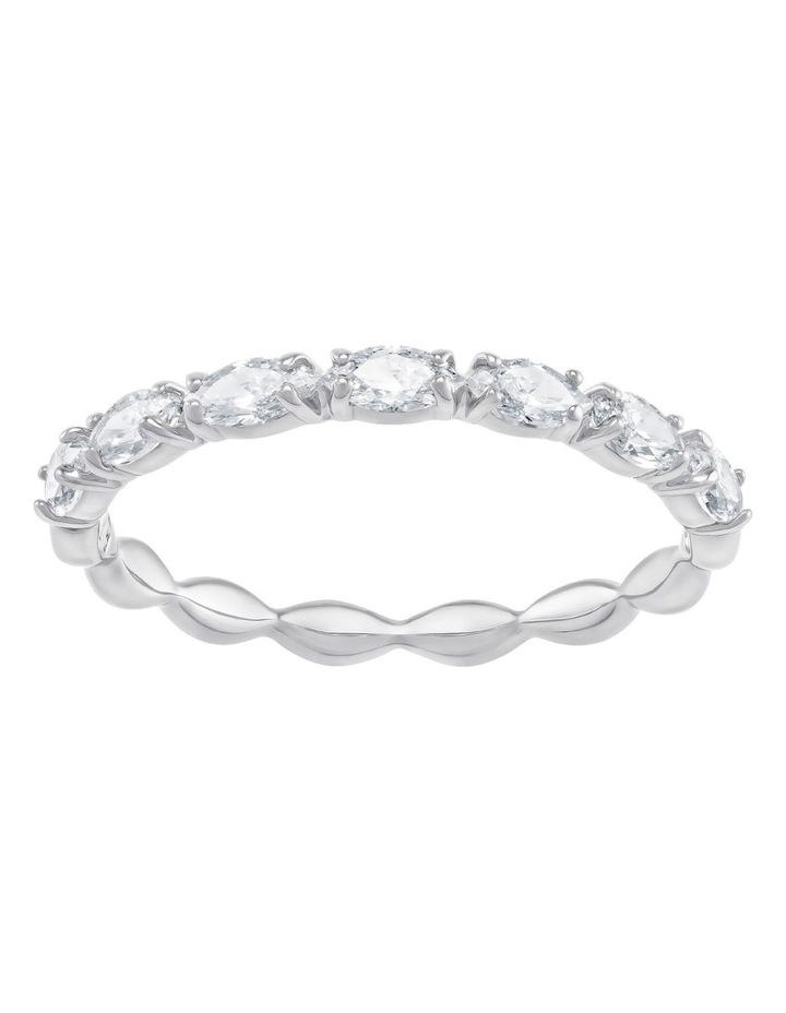 Vittore Marquise Ring - White - Rhodium Plated 55mm image 1