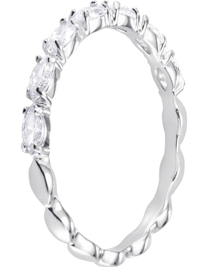 Vittore Marquise Ring - White - Rhodium Plated 55mm image 2