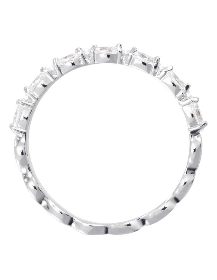 Vittore Marquise Ring - White - Rhodium Plated 58mm image 3