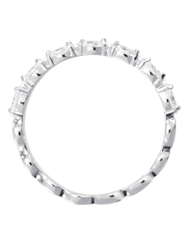 Vittore Marquise Ring - White - Rhodium Plated 60mm image 3