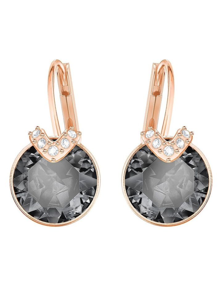 Bella V Pierced Earrings - Gray - Rose-gold Tone Plated image 1