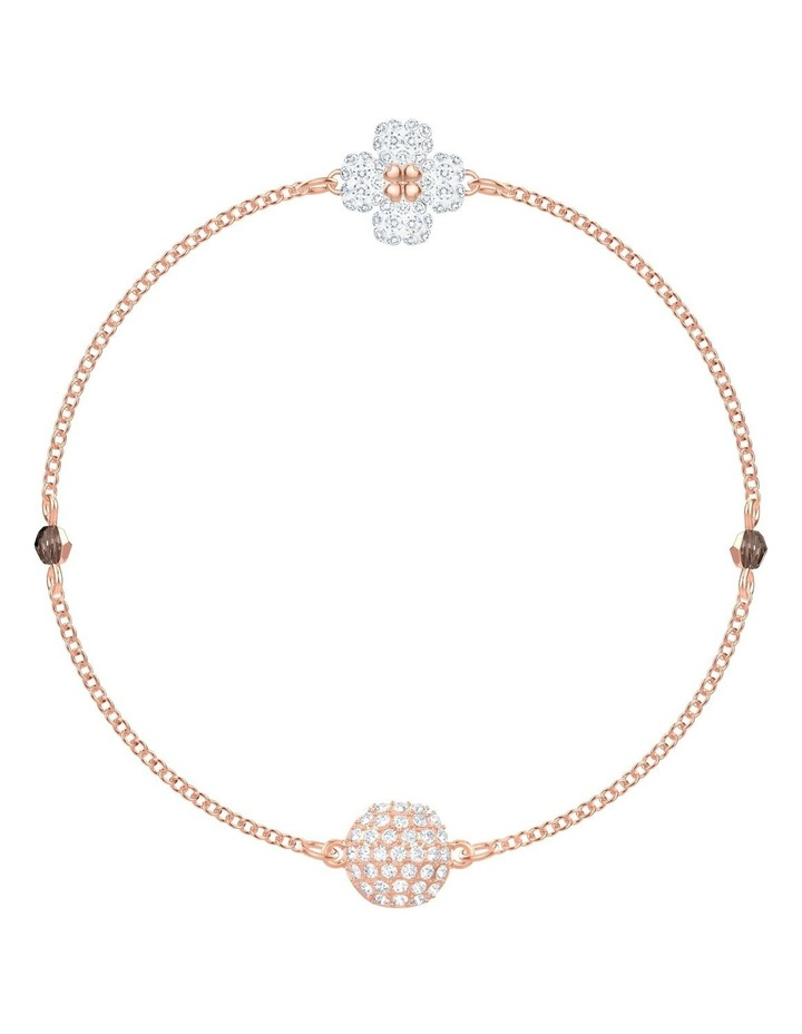 Remix Collection Clover Strand - White - Rose-gold Tone Plated image 1