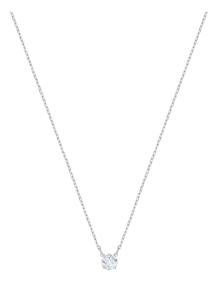 Attract Round Necklace - White - Rhodium Plated image 1