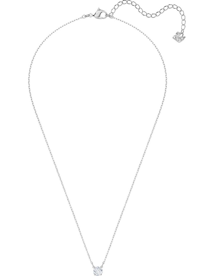 Attract Round Necklace - White - Rhodium Plated image 2