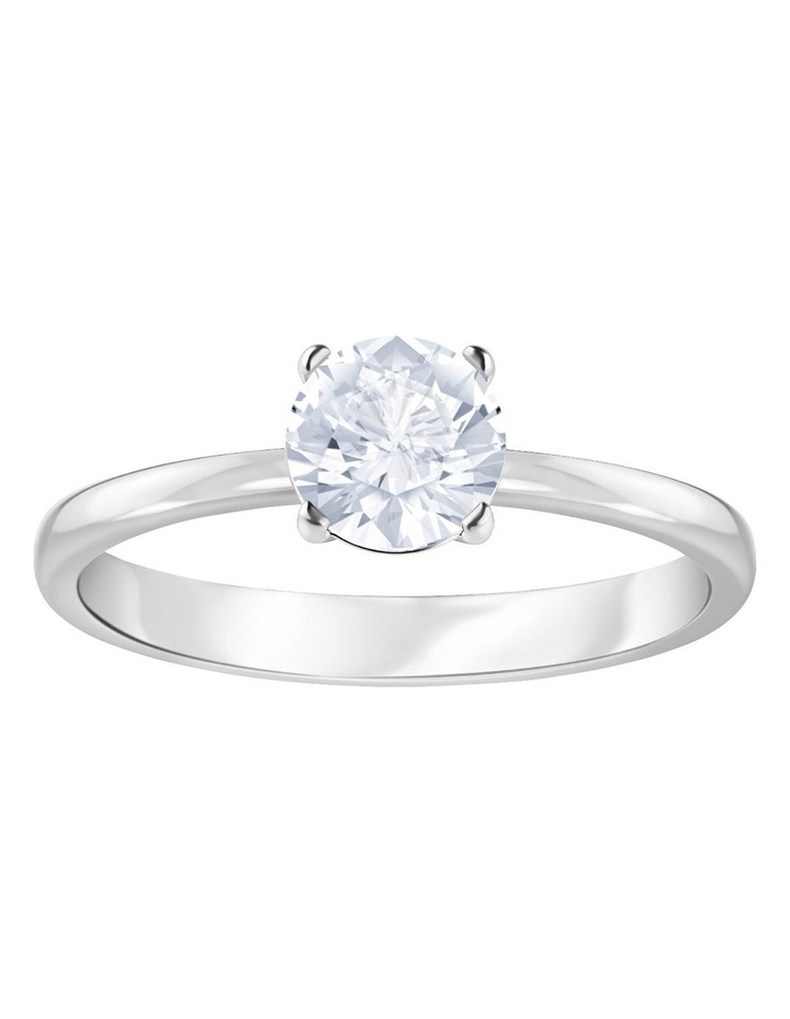 Attract Ring - White - Rhodium Plated 58mm image 1