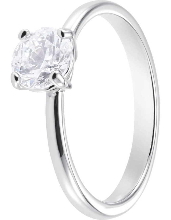 Attract Ring - White - Rhodium Plated 58mm image 2