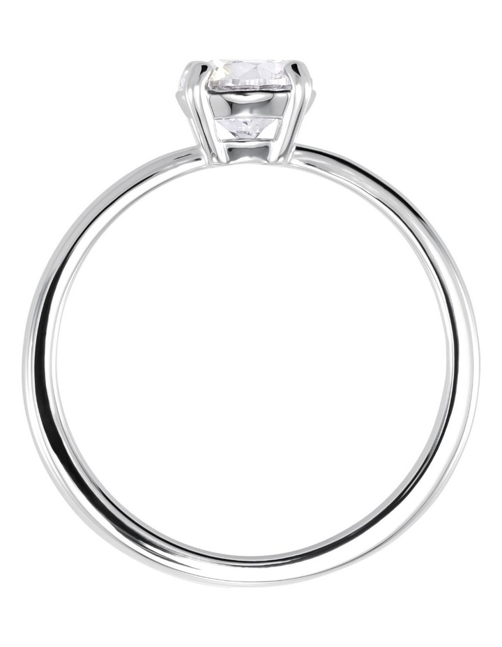 Attract Ring - White - Rhodium Plated 58mm image 3