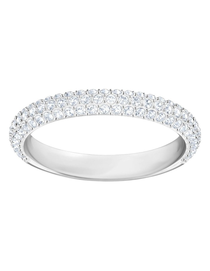 Stone Ring - White - Rhodium Plated 58mm image 1
