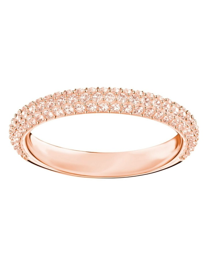 Stone Ring - Pink - Rose-gold Tone Plated 58mm image 1