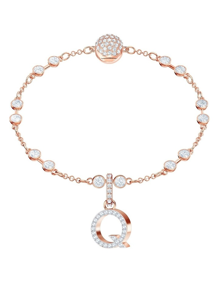 Remix Collection Charm Q - White - Rose-gold Tone Plated image 2