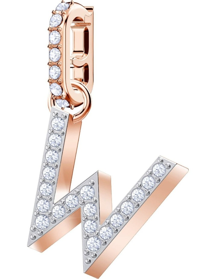 Remix Collection Charm W - White - Rose-gold Tone Plated image 1
